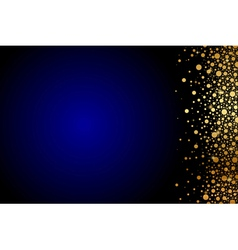 blue background with gold confetti vector image vector image