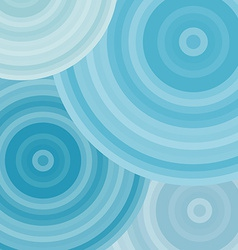 Blue ripples circles abstract background vector