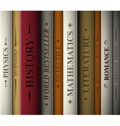 Books of various genres vector image