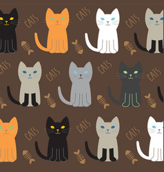 cat breed collection vector image vector image