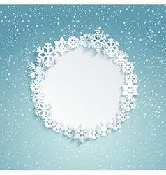 Circular christmas frame vector