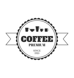 Coffee emblem badge logo label isolated on vector image