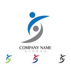community care logo vector image vector image
