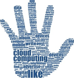 Hand keywords vector