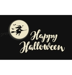 Happy halloween banner or greeting card vector