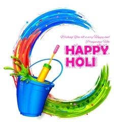 Happy holi background vector