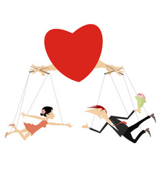 love couples concept isolated vector image vector image