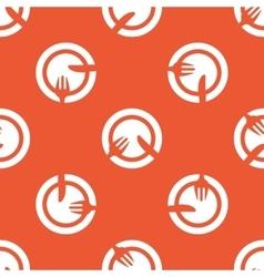 Orange tableware pattern vector image vector image