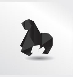 origami gorila vector image
