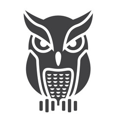 Owl glyph icon halloween and scary animal sign vector