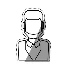 people faceless and business vector image vector image