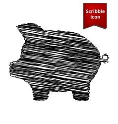 Pig money bank icon vector