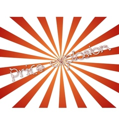 price explosion vector image vector image