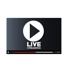 screen with live play button icon vector image