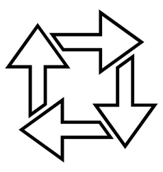 Square Recycle Thin Line Icon vector image