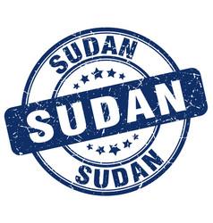 Sudan blue grunge round vintage rubber stamp vector