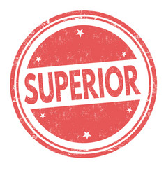 superior sign or stamp vector image