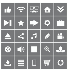 Universal Flat Icons Set 1 vector image