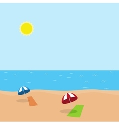 vacation at sea on beach vector image vector image