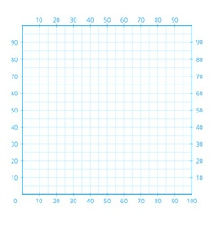 White squared paper sheet vector image