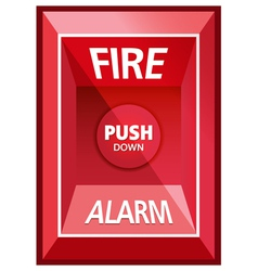 Fire alarm safety vector