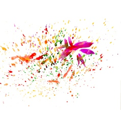 Brush strokes and paint splashes vector