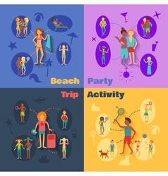Vacation People Set vector image