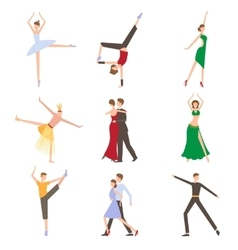 Dancing styles flat design vector