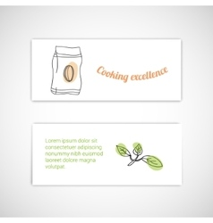 Set of trendy cards vector
