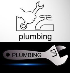 Plumbing symbol service vector image