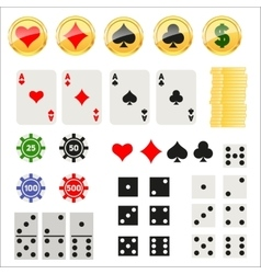 Gambling elements set vector