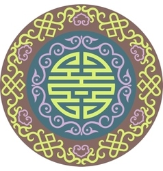 Oriental chinese ornament asian traditional vector