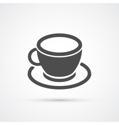 Coffee cup trendy icon vector