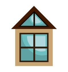 Real estate business isolated icon vector