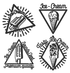 Vintage Ice Cream emblems vector image