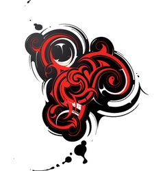 Abstract tattoo elements vector image