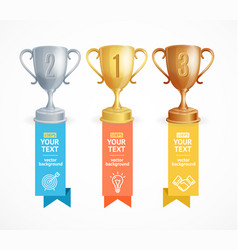 award cup menu infographic option banner card vector image vector image