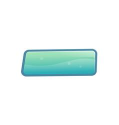 blue blank window option in cartoon style vector image vector image