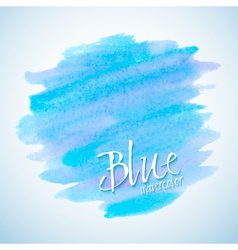 Blue watercolor stain design element vector image