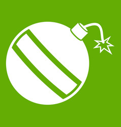 bomb icon green vector image