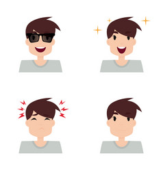 boy expression faces vector image