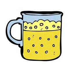 comic cartoon mug of beer vector image
