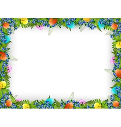 Easter decorative frame vector