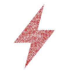 Electric strike fabric textured icon vector
