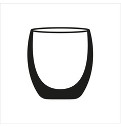 empty glass cup icon in simple monochrome style vector image vector image