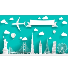 Famous monuments of the world vector image