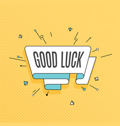 Good luck retro design element in pop art style vector