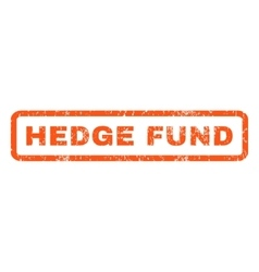 Hedge Fund Rubber Stamp vector image