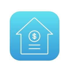 House with dollar symbol line icon vector image