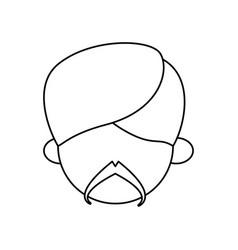 indian ethic man cartoon vector image vector image